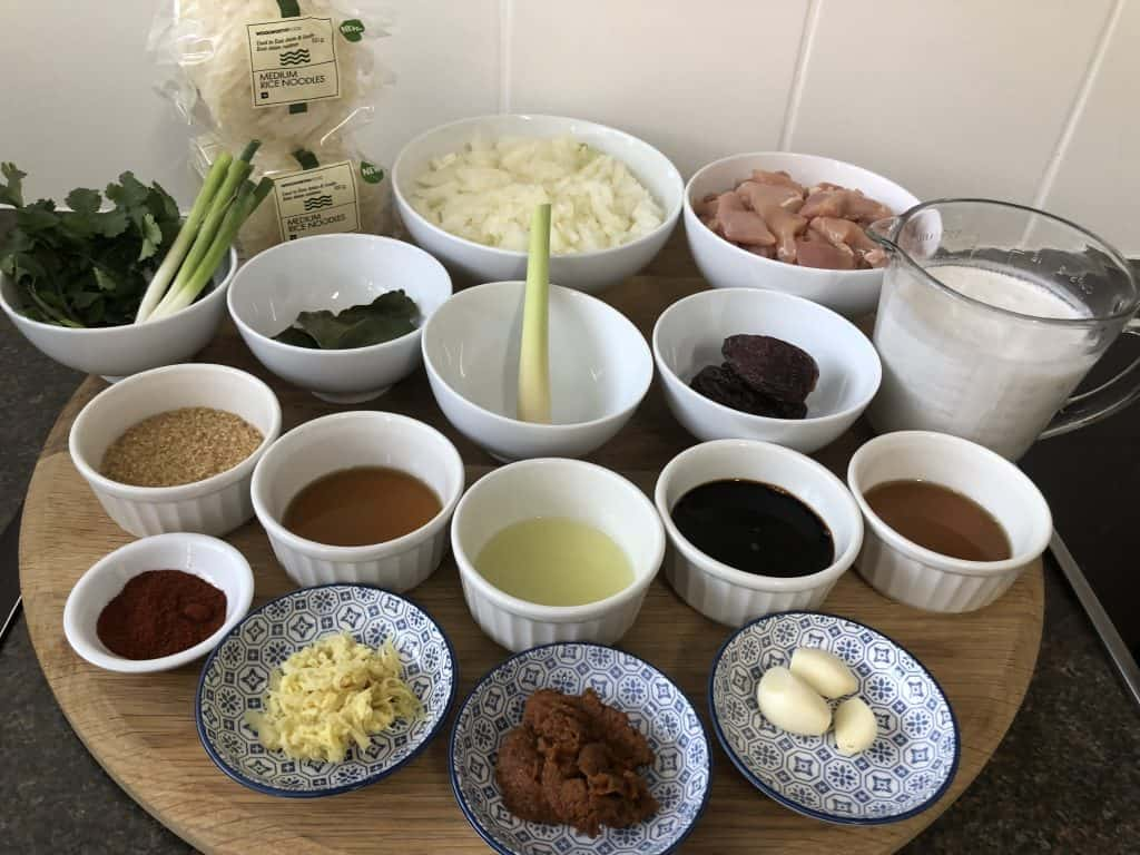 Thai Chicken Noodles Ingredients