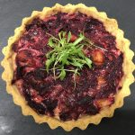 Beetroot and Bacon Quiche