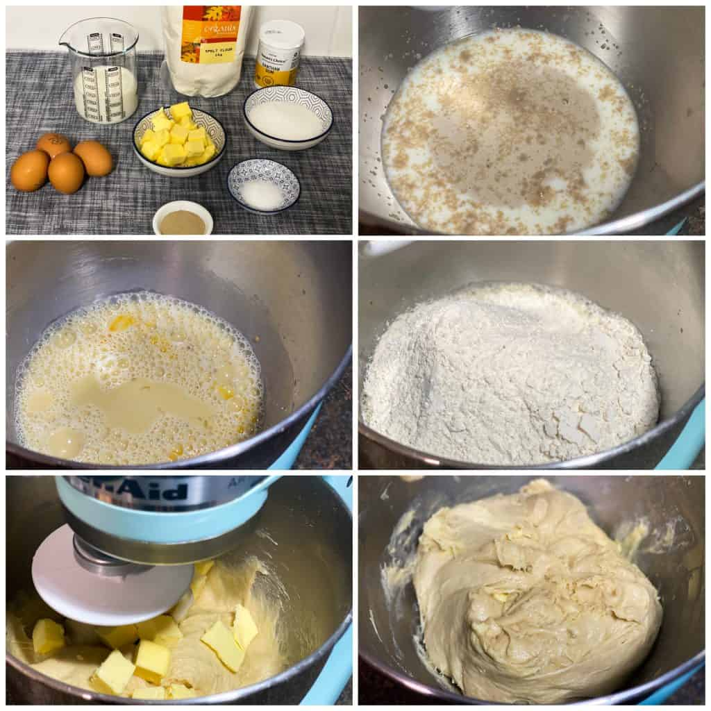 Spelt Brioche Bread Steps