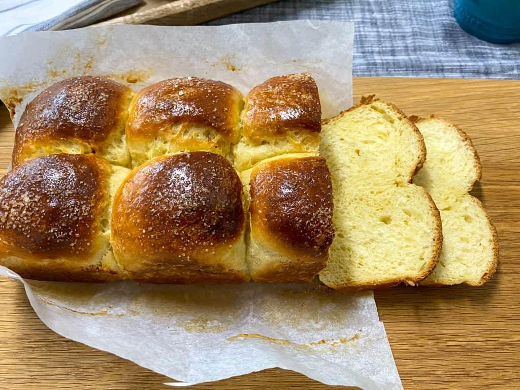 Spelt Brioche Bread Sliced